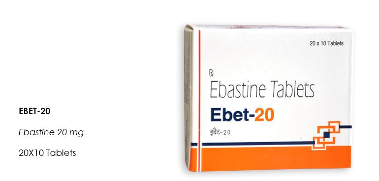EBET-20 Ebastine 20mg 20X10 Tablets