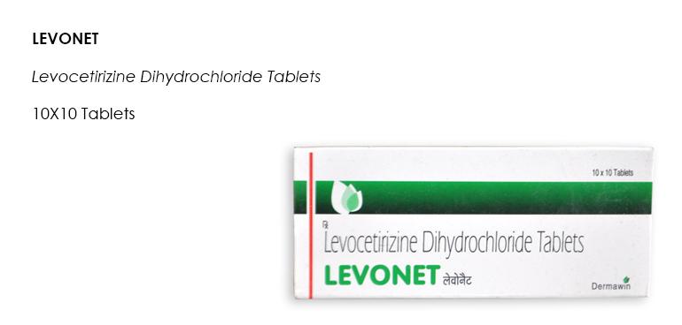 LEVONET Levocetirizine Dihydrochloride Tablets 10X10 Tablets